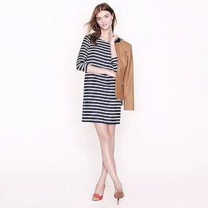Jcrew Jules dress in stripe silk twill